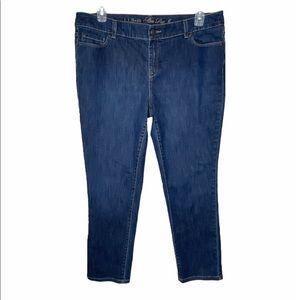 L.L Bean Women's Jeans, Straight-Leg 16 petite